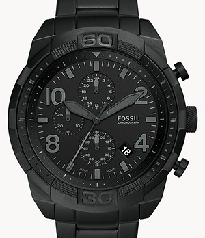 Bronson Chronograph Black Stainless Steel Watch
