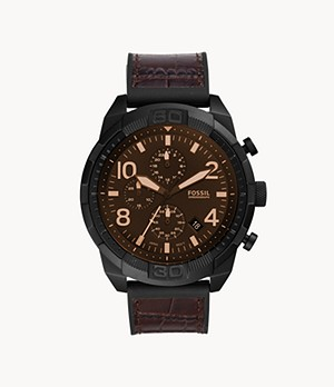 Bronson Chronograph Brown Croco Leather Watch