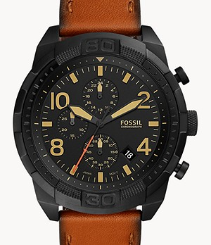 Bronson Chronograph Luggage Leather Watch