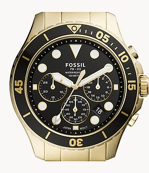 FB-03 Chronograph Gold-Tone Stainless Steel Watch