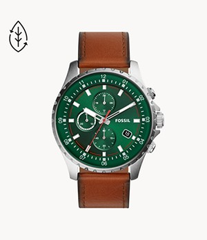 Dillinger Chronograph Luggage Leather Watch