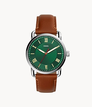Copeland Three-Hand Luggage Leather Watch