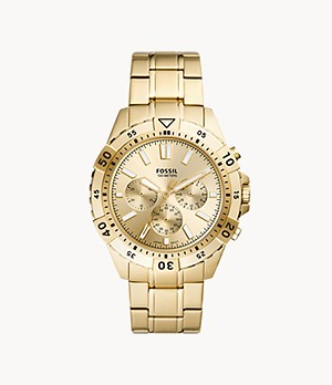 Garrett Chronograph Gold-Tone Stainless Steel Watch
