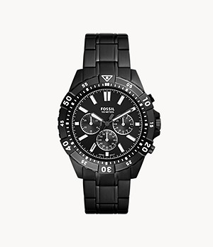 Garrett Chronograph Black Stainless Steel Watch