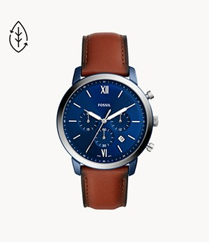 Neutra Chronograph Luggage Leather Watch