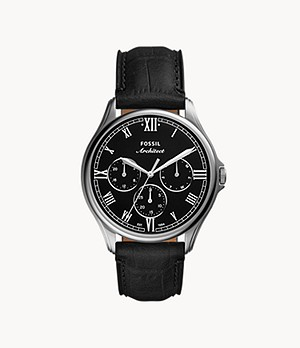 ARC-02 Multifunction Black Croco Leather Watch