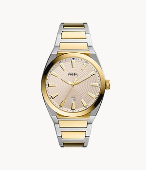 Everett Three-Hand Date Two-Tone Stainless Steel Watch
