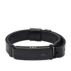 Q Reveler Black Leather Activity Tracker