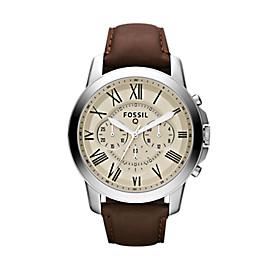 Q Grant Chronograph Dark Brown Leather Smartwatch