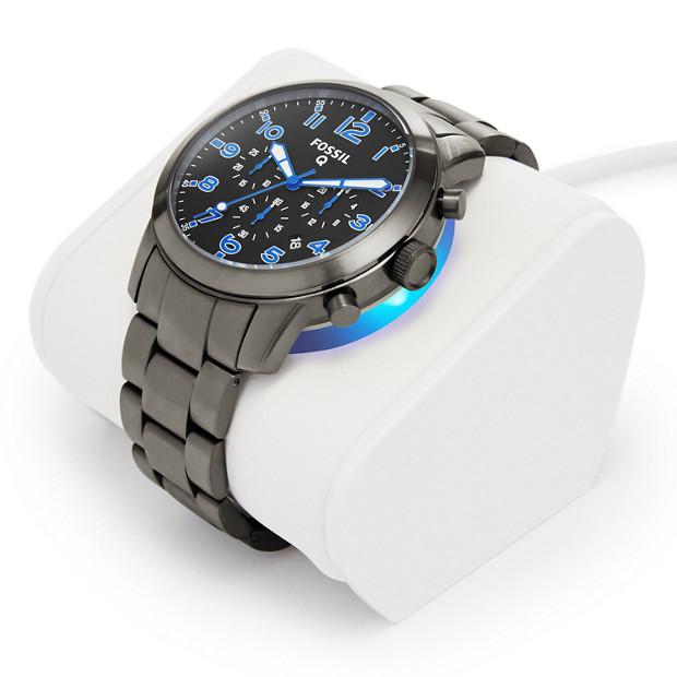 gen 1 chronograph smartwatch q54 pilot stainless steel fossil. Black Bedroom Furniture Sets. Home Design Ideas