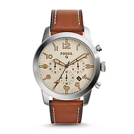 Gen 1 Chronograph Smartwatch - Q54 Pilot Brown Leather
