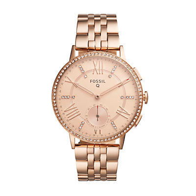 Fossil Q Gazer Rose Gold-Tone Stainless Steel Hybrid Smartwatch