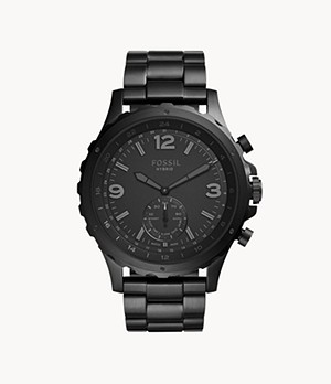 Hybrid Smartwatch Nate Black Stainless Steel