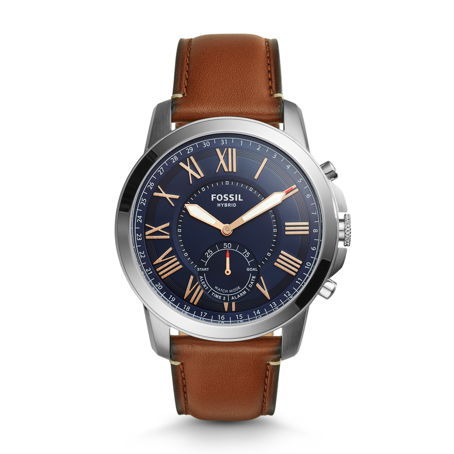 b15a481c42a2c Hybrid Smartwatch - Grant Light Brown Leather - Fossil