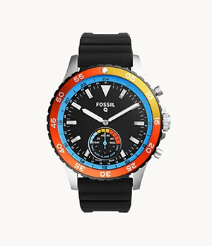 Hybrid Smartwatch Crewmaster Black Silicone