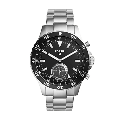 Q Crewmaster Hybrid Stainless Steel Smartwatch