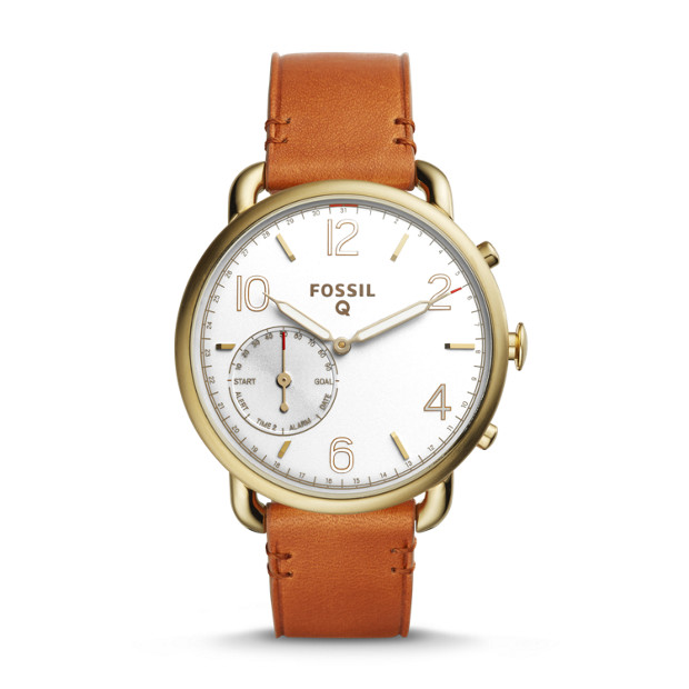 Fossil Unisex Q Tailor Hybrid Smartwatch (Light Brown, Navy, or Tan)