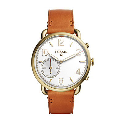 Fossil Q Tailor Light Brown Leather Hybrid Smartwatch