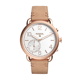 Fossil Q Tailor Sand Leather Hybrid Smartwatch