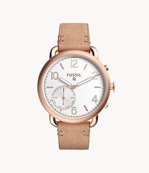 Hybrid Smartwatch Tailor Light Brown Leather