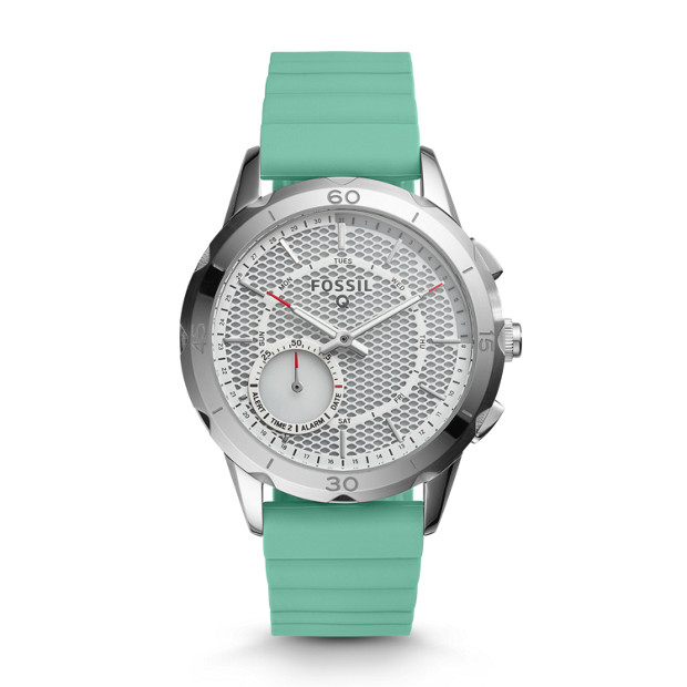 hybrid smartwatch q modern pursuit mint green silicone fossil. Black Bedroom Furniture Sets. Home Design Ideas
