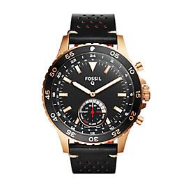 Smartwatch ibrido – Q Crewmaster con cinturino in pelle nera