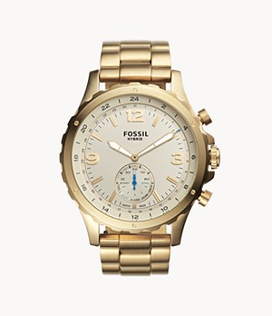 Hybrid Smartwatch Nate Gold-Tone Stainless Steel