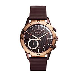 Smartwatch ibrido – Q Modern Pursuit con cinturino in silicone color vinaccia