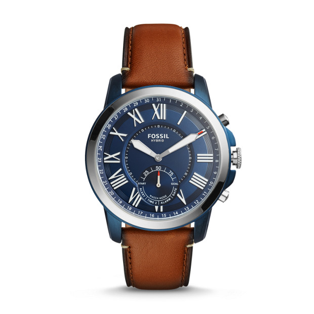 Fossil Hybrid Smartwatch Q Grant Luggage Leather