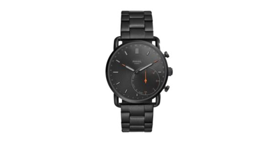 Hybrid Smartwatch Commuter Black Stainless Steel Fossil