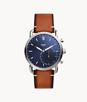 Hybrid Smartwatch Commuter Luggage Leather
