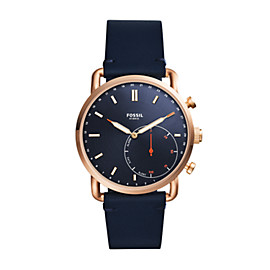 Hybrid Smartwatch - Commuter Navy Leather