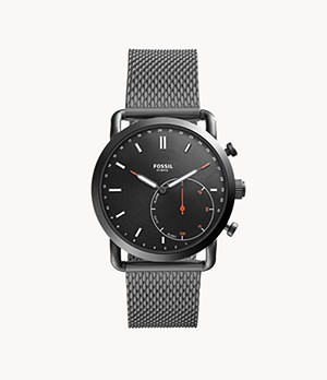 Hybrid Smartwatch Commuter Smoke Stainless Steel