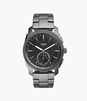 Hybrid Smartwatch Machine Smoke Stainless Steel