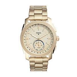 Herren Hybrid Smartwatch Machine - Edelstahl - Gold