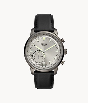REFURBISHED Hybrid Smartwatch Goodwin Black Leather