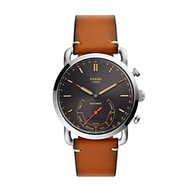 Hybrid Smartwatch - Fossil x Movember Brown Leather