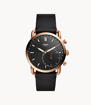 Hybrid Smartwatch Commuter Black Leather