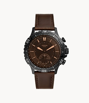 Hybrid Smartwatch Garrett Brown Leather
