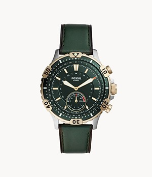 Hybrid Smartwatch Garrett Dark Green Leather