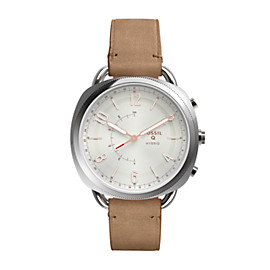 Hybrid Smartwatch - Q Accomplice Sand Leather