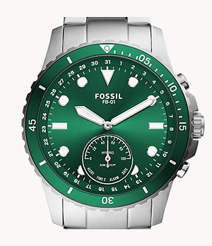 Montre intelligente hybride Fossil FB-01 en acier inoxydable