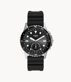Hybrid Smartwatch FB-01 Black Silicone