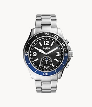 Montre intelligente hybride Fossil FB-02 en acier inoxydable