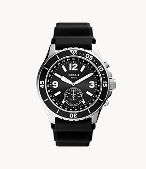 Hybrid Smartwatch FB-02 Black Silicone
