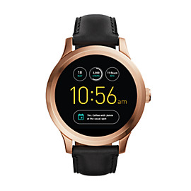 Fossil Q Founder Touchscreen Black Leather Smartwatch