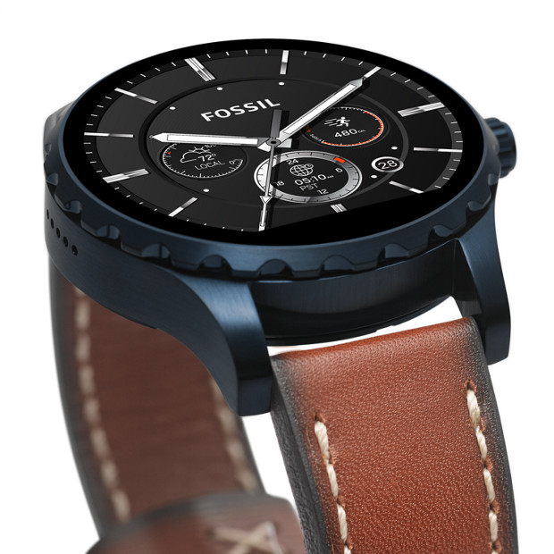 herren smartwatch q marshal 2 generation leder braun fossil. Black Bedroom Furniture Sets. Home Design Ideas
