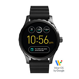 Q Marshal Touchscreen Black Silicone Smartwatch