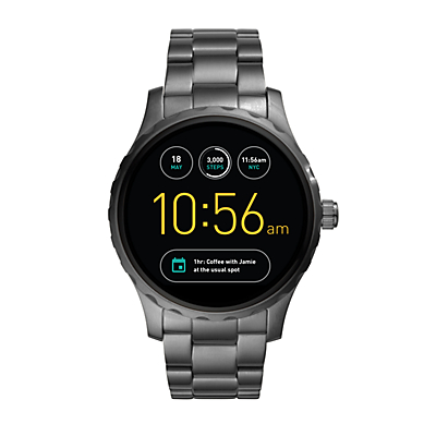 Herren Smartwatch Q Marshal - Touchscreen - Edelstahl - Rauchgrau