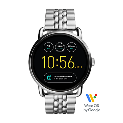 Q Wander Touchscreen Stainless Steel Smartwatch